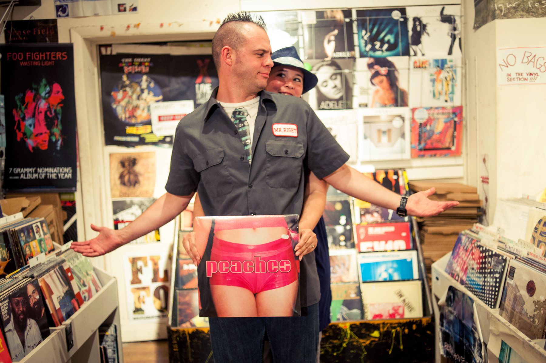 Record Store Engagement Photos in Philly