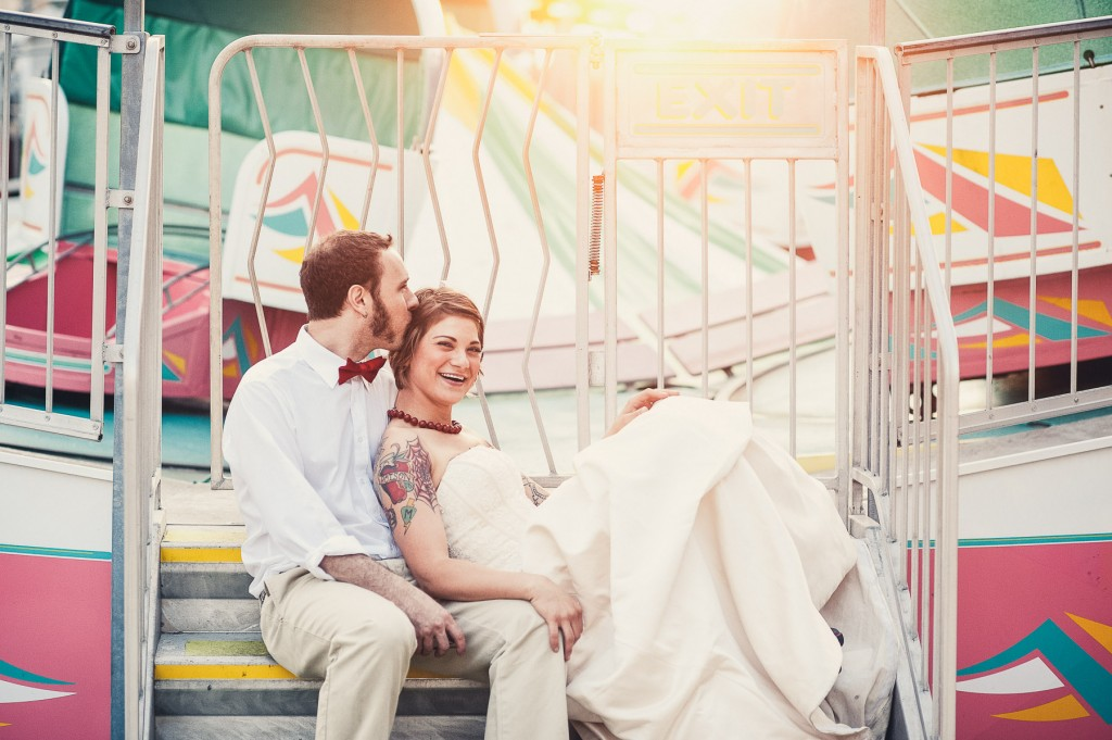Trash the Dress Tattooed Bride and Groom New Jersey