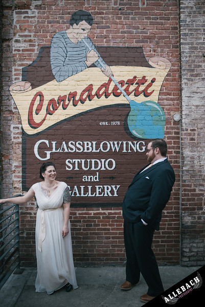Corradetti Baltimore Wedding glass blowing studio