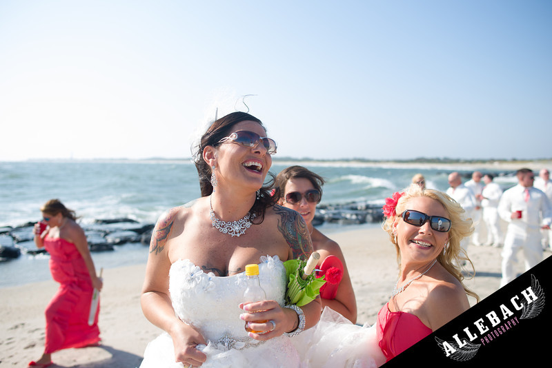 Cape May Allebach Wedding Photography Tattooed Bride