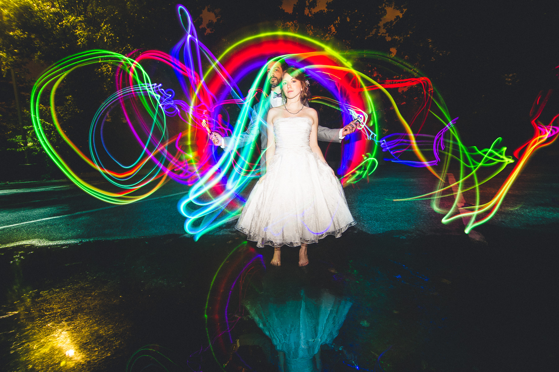 Doctor Who Themed Light Painting Wedding