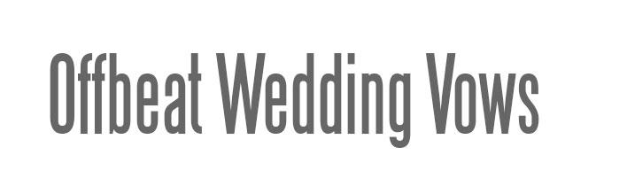 Offbeat Wedding Vows