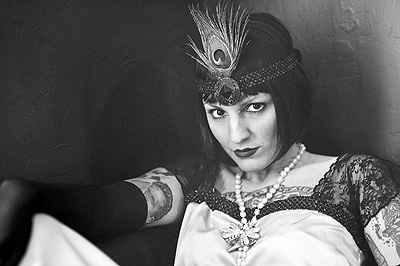 1920s Stotesbury Mansion Flapper by Allebach Photography